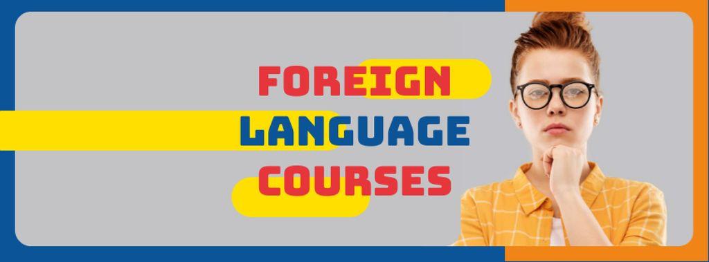 Language Courses ad confident young girl — Créer un visuel