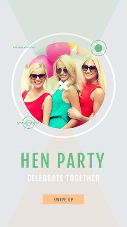 Designvorlage Hen Party Invitation with Stylish Young Girls für Instagram Story