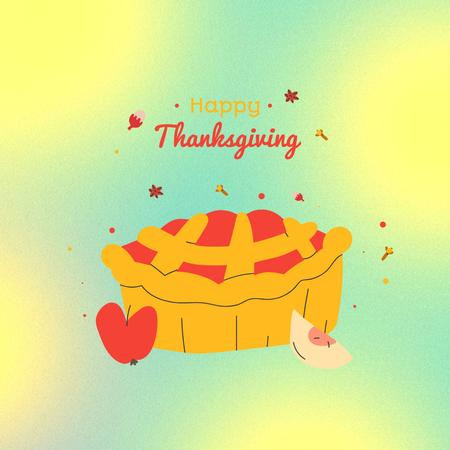 Thanksgiving Holiday Greeting with Festive Pie Instagram – шаблон для дизайну
