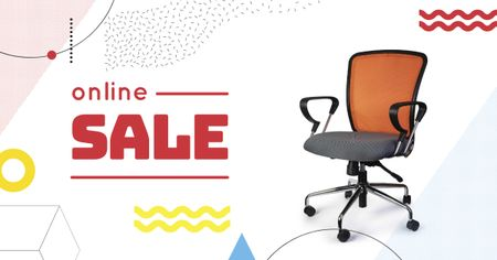 Ontwerpsjabloon van Facebook AD van Furniture Offer Office Chair