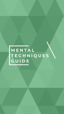 Mental Techniques Learning Offer on Green Geometric Pattern Instagram Story – шаблон для дизайну