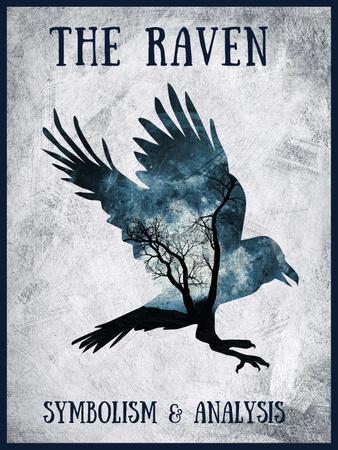 Artistic Raven Silhouette Poster US – шаблон для дизайну