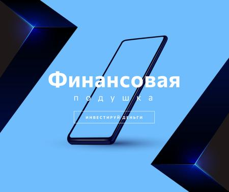 Investment concept with Phone screen Facebook – шаблон для дизайна