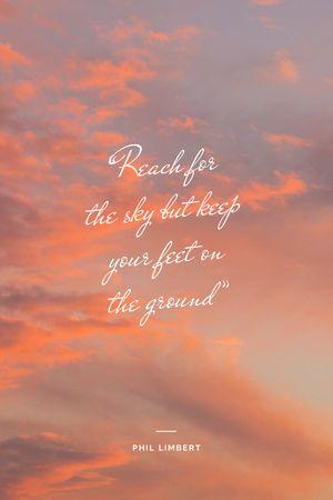 Inspirational Quote on sunset Sky Tumblr tervezősablon