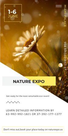 Modèle de visuel Nature Expo announcement Blooming Daisy Flower - Graphic