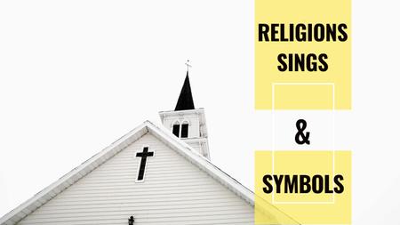Facade of Church with Cross in White Youtube Thumbnail Tasarım Şablonu