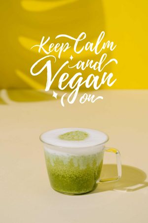 Vegan Lifestyle concept with Green Smoothie Tumblr tervezősablon