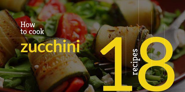 recipe book for preparing zucchini Image Modelo de Design