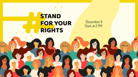 Ontwerpsjabloon van FB event cover van Human Rights Day Announcement with Diverse Women