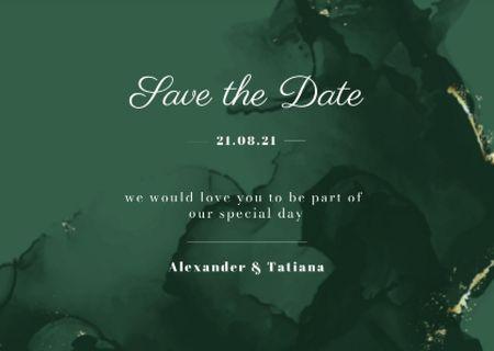 Template di design Wedding Day Elegant Celebration Announcement Card