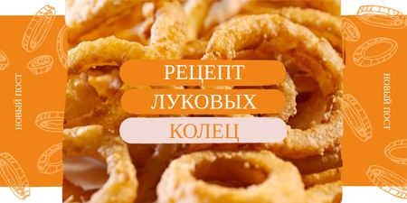 Template di design Fried onion rings Image