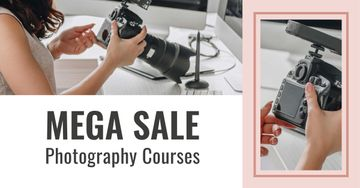 Photography Courses Offer with Woman holding Camera