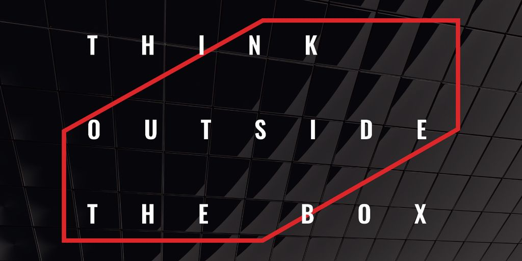 Ontwerpsjabloon van Image van Think outside the box Quote on black tiles