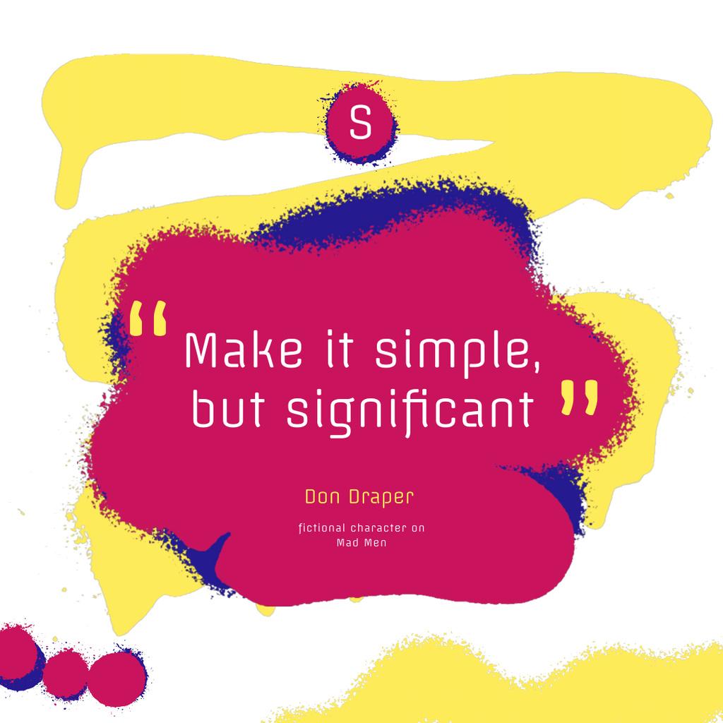 Art Quote on Sprayed Paint Background — ein Design erstellen