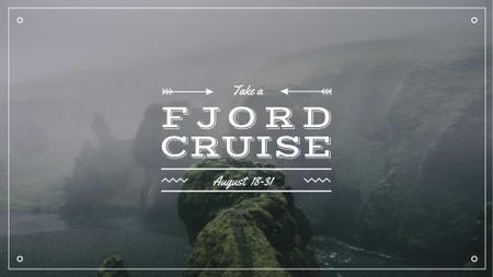 Fjord Cruise Promotion Scenic Norway View FB event cover – шаблон для дизайну
