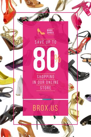 Plantilla de diseño de Female Shoes Store Sale in Pink Pinterest