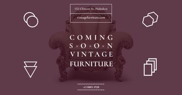Vintage furniture shop Opening Ad