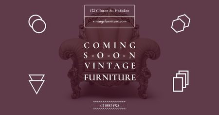 Szablon projektu Vintage furniture shop Opening Ad Facebook AD