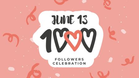 Followers Celebration with Bright Pattern FB event cover – шаблон для дизайну