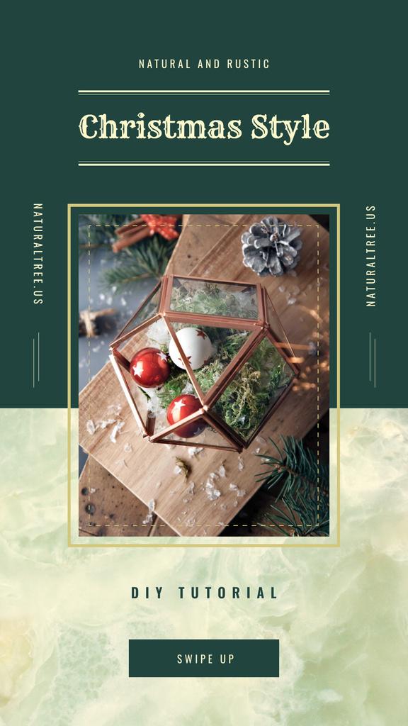 Natural and rustic Christmas decorations — Crear un diseño