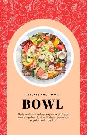 Tasty Dish in Bowl Recipe Card Modelo de Design
