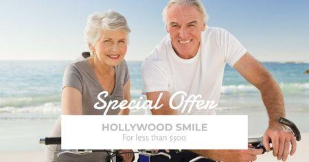 Template di design Dental services for elder people Facebook AD