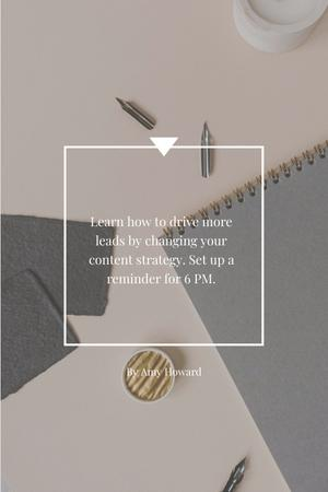 Inspirational Phrase with Notebook Pinterest – шаблон для дизайну