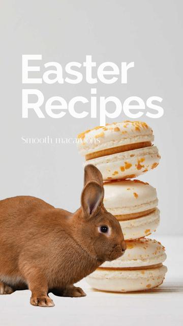 Plantilla de diseño de Easter Recipes with cookies and Bunny Instagram Video Story