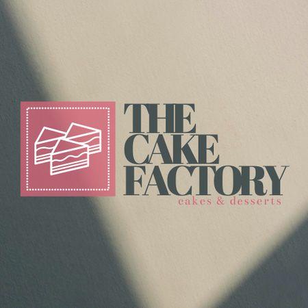 Ontwerpsjabloon van Logo van Sweets Store Offer with Cakes Illustration