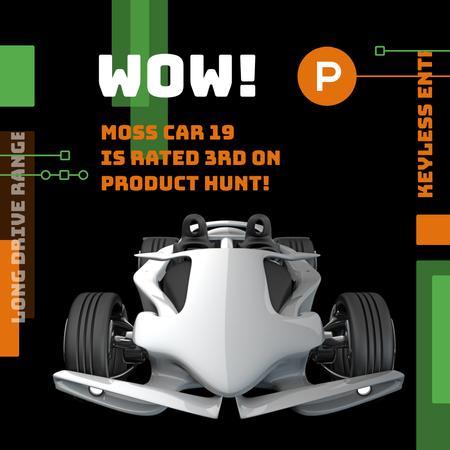 Ontwerpsjabloon van Instagram van Product Hunt Launch Ad Sports Car