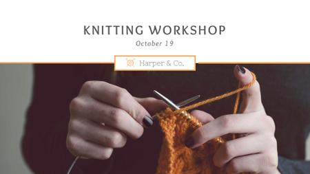 Knitting Workshop Announcement FB event cover – шаблон для дизайна