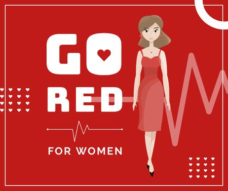 Template di design Woman wearing red dress Facebook