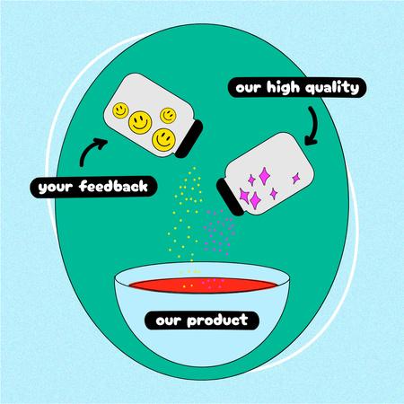 Designvorlage Perfect Product humorous concept für Instagram