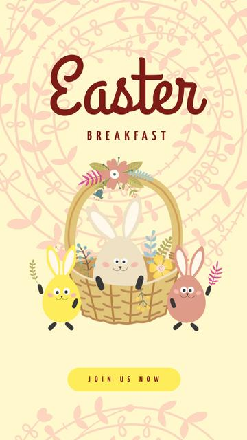 Cute Easter bunnies Instagram Story Modelo de Design