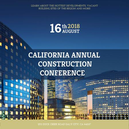 Annual construction conference with City Skyscrapers Instagram – шаблон для дизайну
