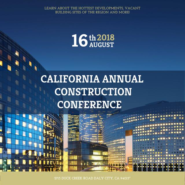 Annual construction conference with City Skyscrapers Instagram – шаблон для дизайна