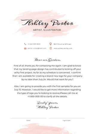 Professional Artist offer response Letterhead – шаблон для дизайну