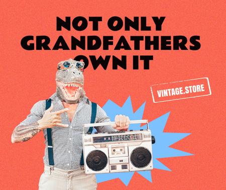 Funny Vintage Store Promotion Facebook – шаблон для дизайна