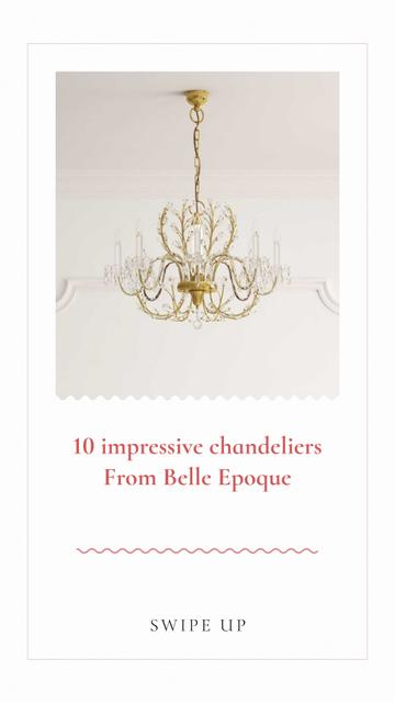 Ontwerpsjabloon van Instagram Story van Elegant Chandeliers Offer
