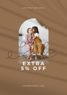 Sale announcement with Kids sharing Secret