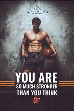 Sport Center Ad Basketball Player