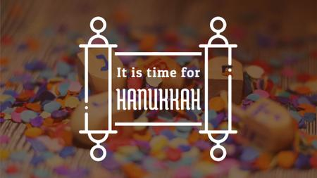 Plantilla de diseño de Happy Hanukkah dreidels Full HD video
