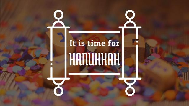 Modèle de visuel Happy Hanukkah dreidels - Full HD video