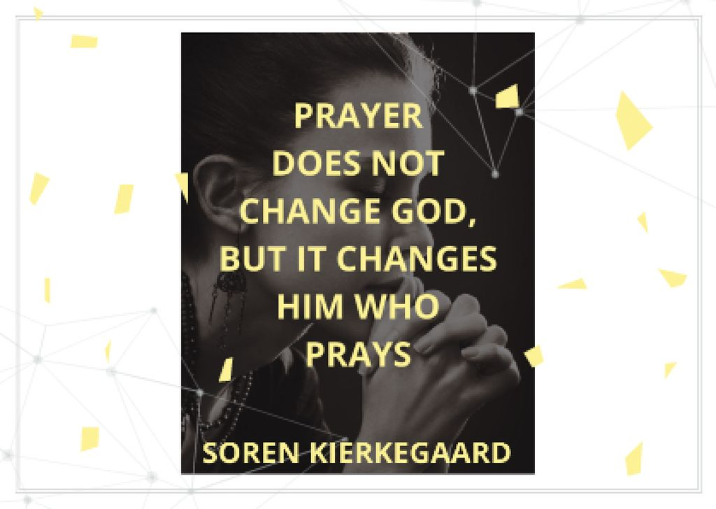 Religion citation about prayer — Crear un diseño