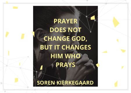 Ontwerpsjabloon van Card van Religion citation about prayer