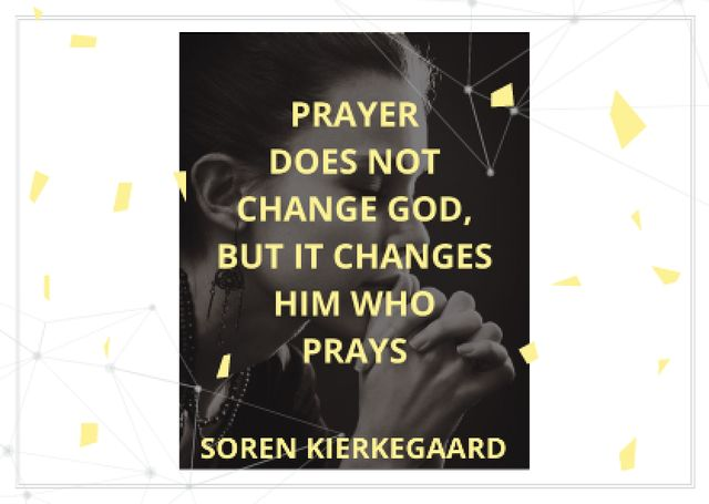 Religion citation about prayer Card Tasarım Şablonu