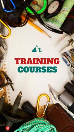 Training Courses Offer with Travelling Kit Instagram Story Modelo de Design