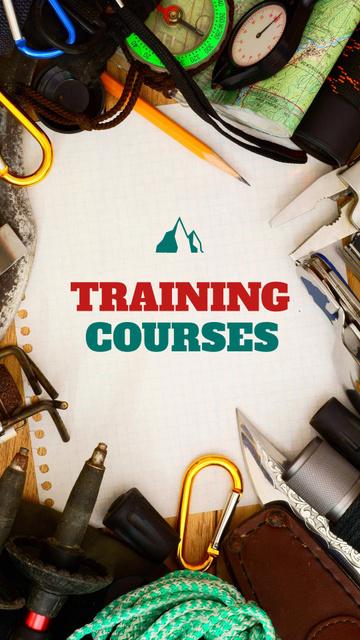 Plantilla de diseño de Training Courses Offer with Travelling Kit Instagram Story