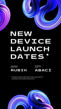 Ontwerpsjabloon van Instagram Story van New Device Launch Announcement