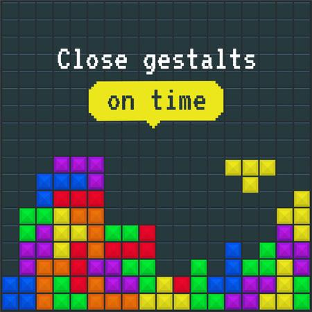 Modèle de visuel Funny Joke about Gestalts with Tetris Game - Instagram